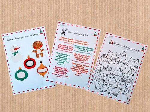 Activités, jeux et coloriage de Noël à imprimer
