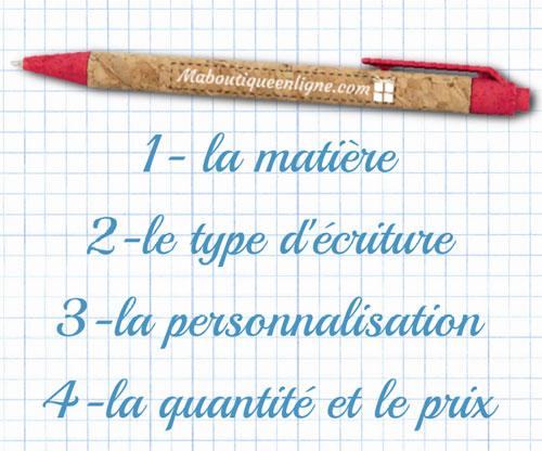 Critères pour choisir un stylo personnalisé fantaisie qui aura de l'impact