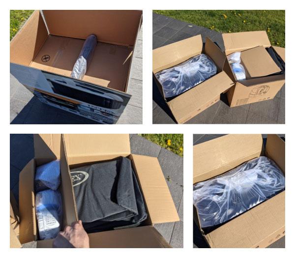 déballage Unboxing du Spa Intex