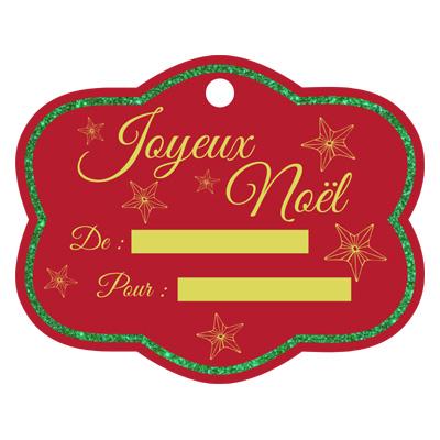 Etiquette de cadeau de Noël à imprimer