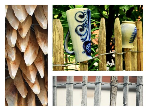 Barrière type ganivelle avec rondins de bois
