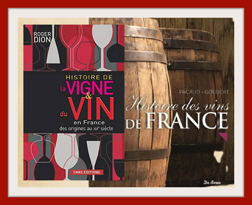 Livre sur l'hustoire du vin en France