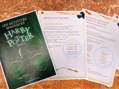Livret d'activité Harry Potter à télécharger