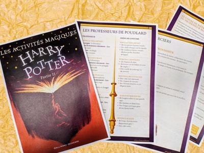 Imprimer gratuitement les Livrets d'activité Harry Potter