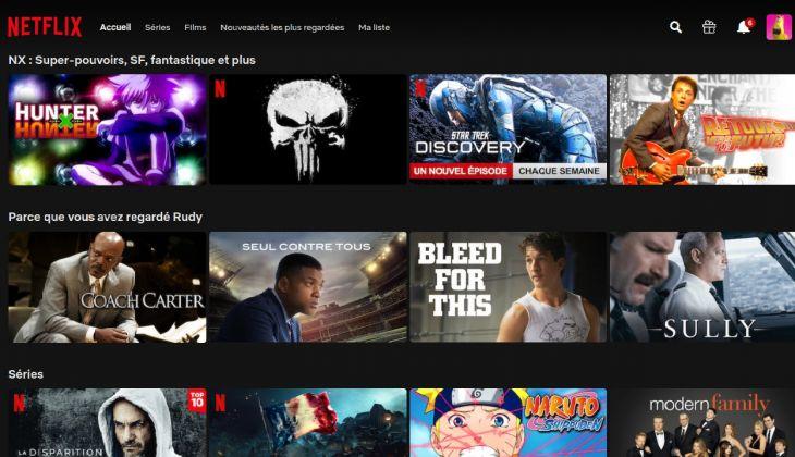 Netflix parce que vous  avez regardé
