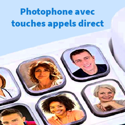 Photophone des photos pour appel simplifié sur telephoner senior