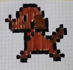 Pixel Art Animaux facile