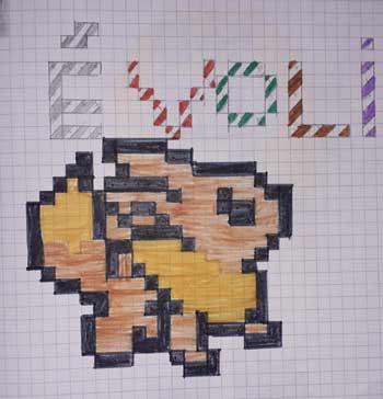 Pixel Art Pokemon Evoli
