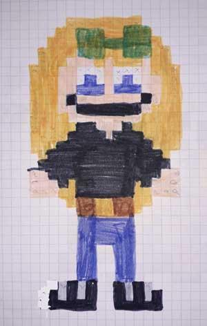 Pixel Art Fille