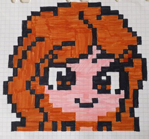 Pixel Art Harry Potter Hermione