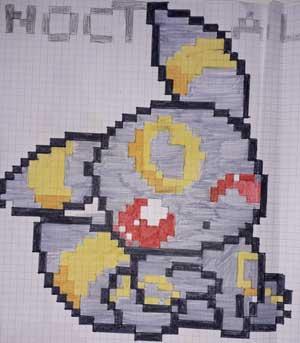 Pixel Art Pokemon Noctali