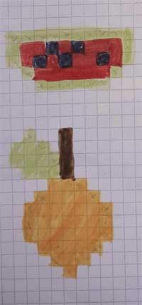 Pixel Art très facile fruit
