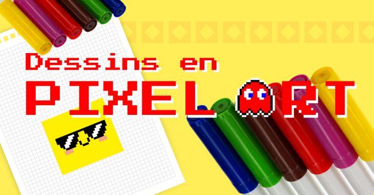 Dessin en pixel art, mes enfants s\'y sont mis