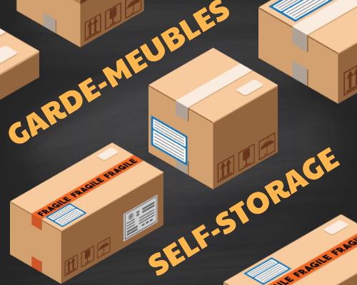 Stocker des marchandises dans un garde meuble