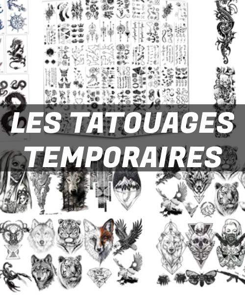 Exemples de tatouages temporaires ou éphémères