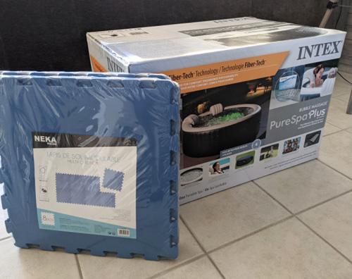 déballage unboxing spa intex